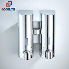 wall mounted shampoo dispensers dual chrome polish soap dispensers wall mounted abs shampoo abs plastic