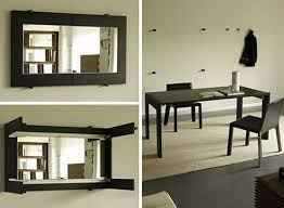 mirror for dining room wall. Folding Dining Table Can Be Conveniently Folded Into A Mirror And Then Wall Mounted For Room