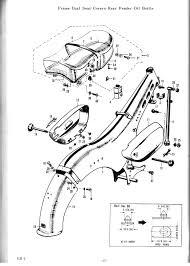 Frame seat oil tank