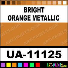 Bright Orange Metallic Ultra Glo Enamel Paints Ua 11125