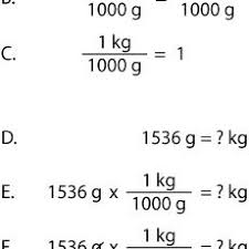Kg To Grams Chart How To Cancel Units Chemistry Metric Conversions