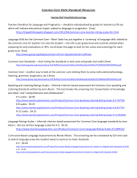 Common Core Math Standards Chart Common Core State Standards Resources5 15 14