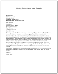 Sample Cover Letter For Resume Nursing Student Cover Letter