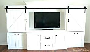 entertainment center plans rustic stand sliding barn door architectures plural meaning cen