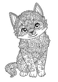 Coloring Pages Cute Cat Coloring Pages To Print Printable Free For