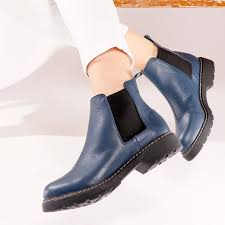 17 items in this article. Women S Navy Ankle Boots By Designer Bernard De Wulf