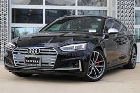 black audi.  Audi 2018 Audi S5 Sportback Vehicle Photo In Houston TX 77090 On Black