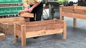 Small Picture How to build a simple elevated garden bed with Louis Damm YouTube
