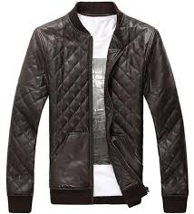 Mens Quilted Faux Leather Jacket – Womens Fashion Factory & ... Mens Quilted Faux Leather Jacket Adamdwight.com