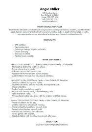 Babysitting Resume Templates Amazing Babysitting Resume Templates Flightprosim