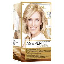 Age Perfect Hair Color Chart Loreal Excellence Age Perfect 9 31 Light Sand Blonde Hair Dye