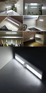 closet lighting battery. Motion Sensor Detector LED Night Light Battery Operated Wireless Closet Cabinet Lights Kitchen Drawer Nightlight Lamp Lighting I