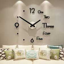 wall clock 3d wall sticker