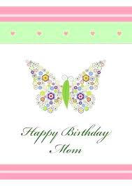 Happy Birthday Card Printable Template Mom Birthday Cards My Free Printable Print Templates
