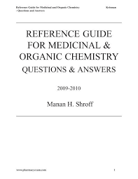 417c Pt Chart Reference Guide For Medicinal Organic Chemistry Pharmacy