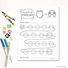 Potty Reward Chart Pull Up Reward Card Potty Training Reward Chart Toilet Training Chart Download Hand Illustrated Printable