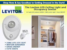 led closet lighting. Leviton Closet Light And Occupancy Sensor Led Lighting
