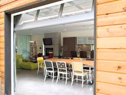 Beautiful Glass Garage Door In Kitchen Full View And To Creativity Ideas