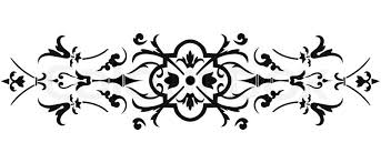 Border Black And White Vintage Vector Border Ornate On White Background Stock Vector