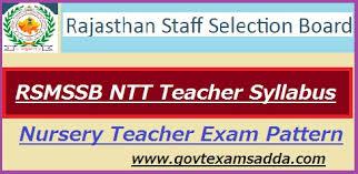 Rsmssb Ntt Teacher Syllabus 2019 Exam Pattern Download Govt Exams Adda