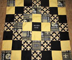 brand new handmade new orleans saints baby quilt embroidered name added free