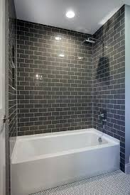 grey subway bathtub tile ideas