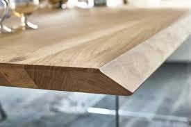 Kawola Esstisch Milu Tisch Eiche Massiv Füße Glas 240x100