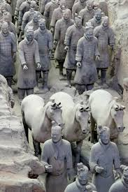 monument statue terracotta sculpture art china warrior mythology xian ancient history