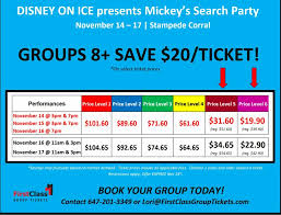 Disney On Ice Calgary Stampede Corral First Class