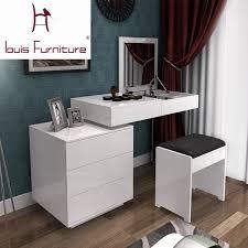 dual use furniture. fashion white paint small apartment telescopic minimalist modern computer desk dresser bedroom combination of dual use furniture r