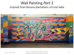 part 1 of wall painting at chennai central inspired by banana plantations of rural india on wall art painters in chennai with seema s corner felicitation by chennai division of southern railway