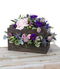 wooden crate flower arrangement thegravesendflorist co uk