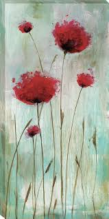 splash poppies i by catherine brink framed painting print on wrapped canvas