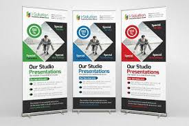 Presentation Flyers Business Roll Up Banners Templates By Business Flyers On