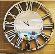 mirrored clock decorative clock with