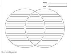 Compare And Contrast Venn Diagram Template Free Printable Venn Diagram Template With Lines Download
