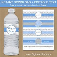 Nautical Baby Shower Water Bottle LabelsBaby Boy Shower Water Bottle Labels