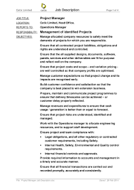 It Project Manager Job Description Project Manager Job Description 10