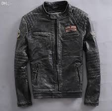 fall factory new do old leather motorcycle jacket style men s real cow leather motorcycle jacket short tide coat s 3xl high quality jackets jacket track