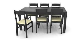 dark colored table and chairs 3d model obj 3ds blend mtl 1
