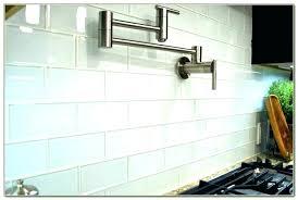 white glass subway tile tiles home depot backsplash kitchen