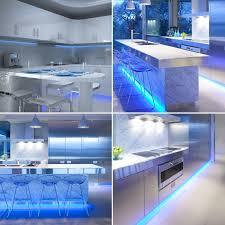 blue under cabinet kitchen lighting plasma tv led strip sets