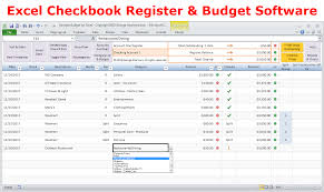 excel checkbook excel budget spreadsheet personal budgeting software checkbook
