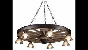 large wagon wheel chandelier with downlights cast horn designs