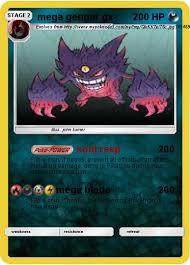 It evolves from haunter when traded. Pokemon Mega Gengar Gx 3