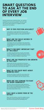 smart questions to ask at the end of a job interview questions to ask at end of a job interview infographic