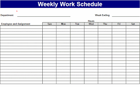 Sample Work Schedule For Employees Weekly Work Schedule Templates Free Download Work Schedule