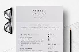 Template For Cv Cover Letter Resume Template Cv Cover Letter Ashley Clarke