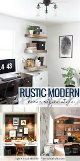 Modern Home Office Design Fascinating Modern Rustic Home Office Design White House