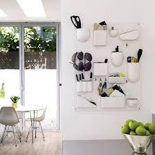 Elegant Kitchen Wall Hanging Storage Be Inspired A White Minimalist Kitchen  Wall Mounted Kitchen